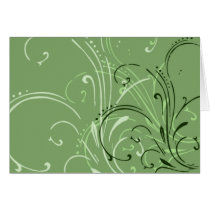 curvilinear, linear, art, design, abstract, flourish, green, gift, gifts, greeting, card, note, cards, Card with custom graphic design