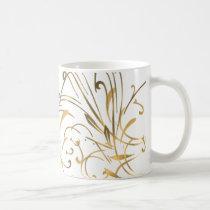 curvilinear, linear, art, design, abstract, flourish, gold, gift, gifts, mug, mugs, Mug with custom graphic design