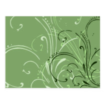 curvilinear, linear, art, design, abstract, flourish, green, gift, gifts, postcard, postcards, Postcard with custom graphic design