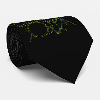 Linear Drums Tie