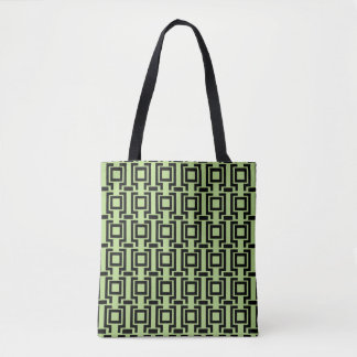 Linear Geometric Pattern Tote Bag