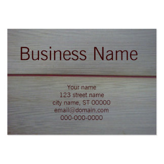 Linear Grey Leaf Large Business Cards (Pack Of 100)