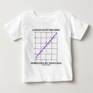 Linear Least Squares Dominates My Thoughts Baby T-Shirt