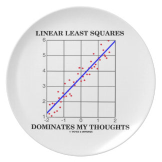 Linear Least Squares Dominates My Thoughts Melamine Plate