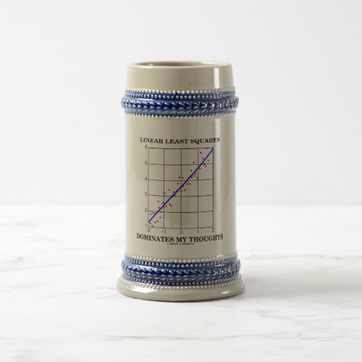 Linear Least Squares Dominates My Thoughts Mugs