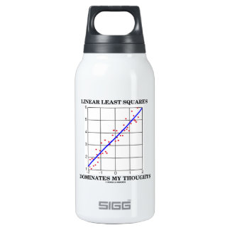 Linear Least Squares Dominates My Thoughts Thermos Bottle