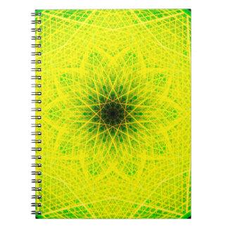 Linear Lemon Mandala Notebook