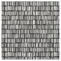 Linear, Modern Pattern - Sagamore - Black Fabric