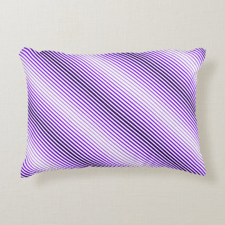 Linear purple accent pillow