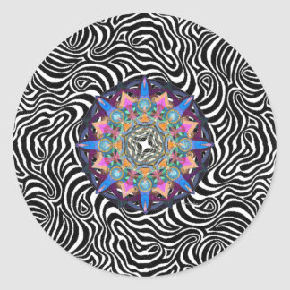 Linear Rush Psychedelic Mandala Sticker