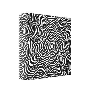 Linear Rush Quad Mandala Canvas Print