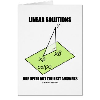 Linear Solutions Are Often Not The Best Answers Cards