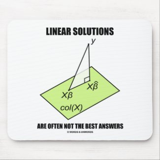 Linear Solutions Are Often Not The Best Answers Mouse Pad