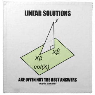 Linear Solutions Are Often Not The Best Answers Printed Napkins