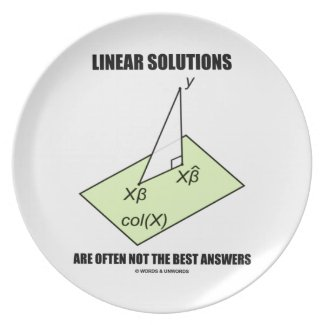 Linear Solutions Are Often Not The Best Answers Plate