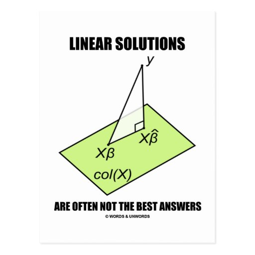 Linear Solutions Are Often Not The Best Answers Post Card