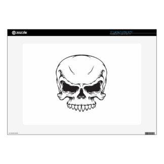 """Lineart skull vintage graphics Scary horror art 15"""" Laptop Skins"""