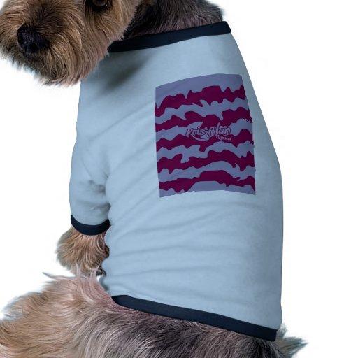 Líneas 2 del caramelo camiseta de perrito