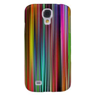 Líneas abstractas coloridas - caja de la galaxia S Funda Para Galaxy S4
