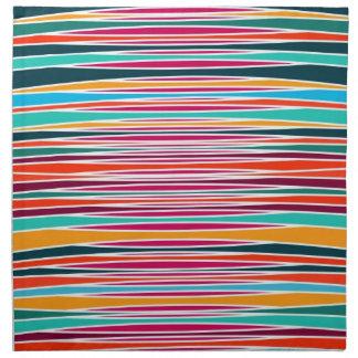 Líneas abstractas coloridas modelo servilleta de papel
