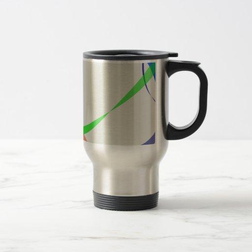 Líneas abstractas coloridas tazas de café