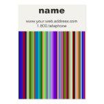 Líneas abstractas de tarjeta de visita del color