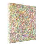 líneas abstractas impresiones en lona estiradas