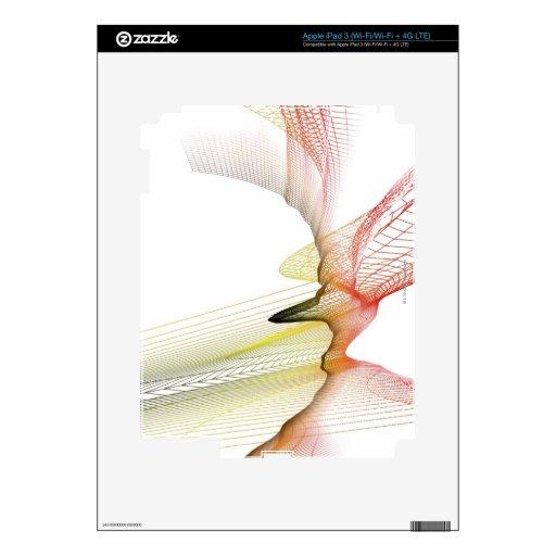Líneas abstractas pegatina skin para iPad 3