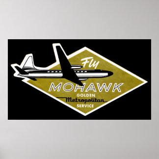 Líneas aéreas 1960 del Mohawk II Póster