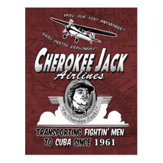 Líneas aéreas cherokees de Jack Tarjeta Postal