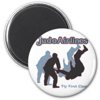Líneas aéreas del judo imán redondo 5 cm