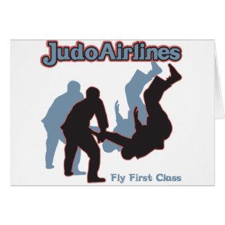 Líneas aéreas del judo tarjeton