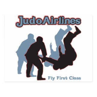 Líneas aéreas del judo tarjeta postal