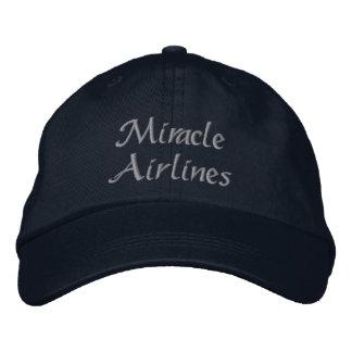 Líneas aéreas del milagro gorras de beisbol bordadas