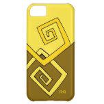 Líneas amarillas retras enrrolladas en el iPhone 5