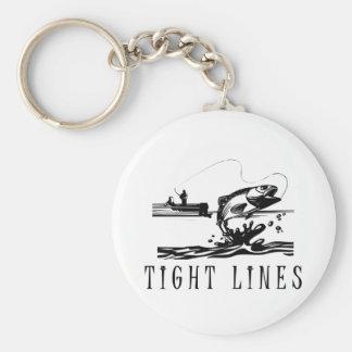 Líneas apretadas pesca llavero redondo tipo pin