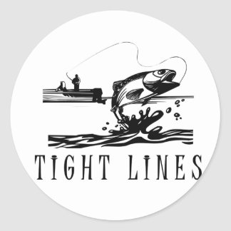 Líneas apretadas pesca pegatina redonda