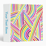 líneas Arco iris-coloreadas del Doodle de la diver