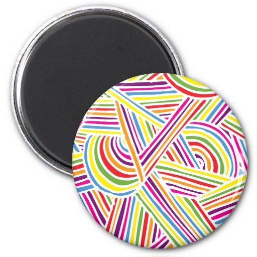 líneas Arco iris-coloreadas del Doodle de la diver Iman