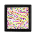 líneas Arco iris-coloreadas del Doodle de la diver Caja De Regalo