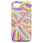 líneas Arco iris-coloreadas del Doodle de la iPhone 5 Case-Mate Protectores