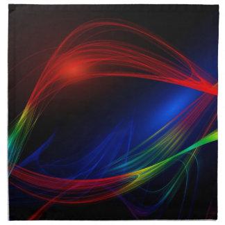 Líneas arte coloridas servilletas de papel