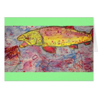 líneas arte siempre apretadas tarjeta de felicitación
