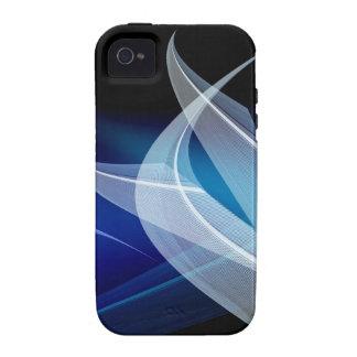 Líneas azules de baile Case-Mate iPhone 4 funda