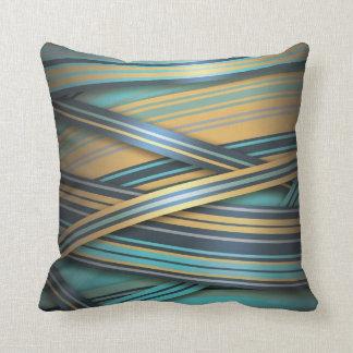 Líneas azules del extracto de la mostaza almohada