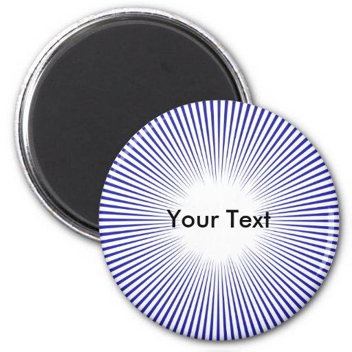 Líneas azules del personalizar del imán de centro