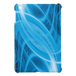 Líneas azules que brillan intensamente abstractas