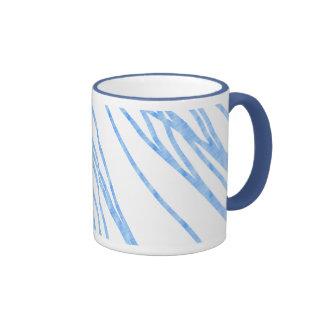 Líneas azules tazas de café