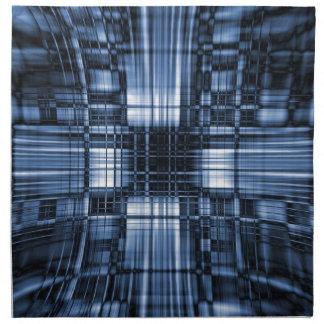 Líneas azules y negras de la tecnología servilletas