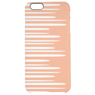 Líneas blancas apiladas claveteadas funda clear para iPhone 6 plus